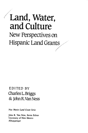 Land  Water  and Culture PDF