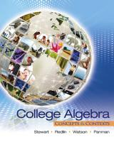 College Algebra  Concepts and Contexts PDF
