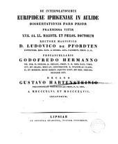 De interpolationibus Euripideae Iphigeniae in Aulide: Volume 1
