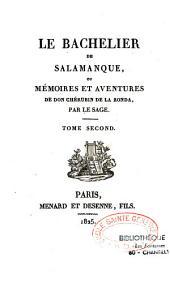 Le bachelier de Salamanque, ou mémoires et avantures de Don Cherubin de la Ronda