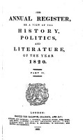The Annual Register  Or  A View of the History  Politics  and Literature for the Year     PDF