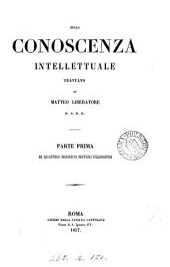Della conoscenza intellettuale: Parte 1