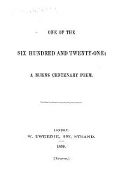 One of the Six Hundred and Twenty-one: a Burns centenary poem