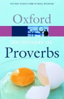 The Oxford Dictionary of Proverbs PDF