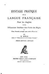 Syntaxe pratique de la langue française pour les Anglais