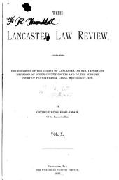 The Lancaster Law Review: Volume 10