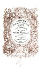 Costumes anciens et modernes: Volume1