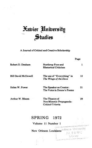 Xavier University Studies