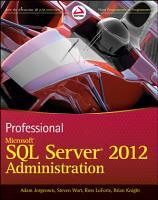 Professional Microsoft SQL Server 2012 Administration PDF