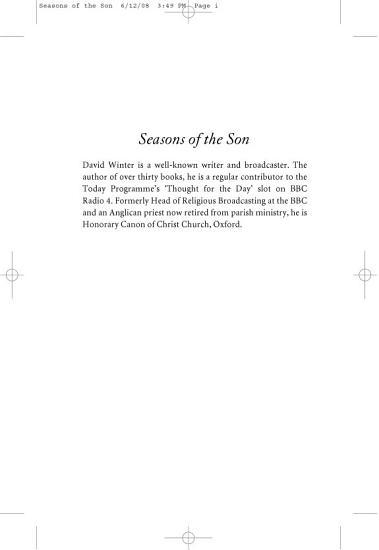 Seasons of the Son PDF