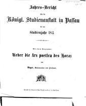 Jahresbericht der K. Studienanstalt in Passau für das Studienjahr ...: 1872/73 (1873)