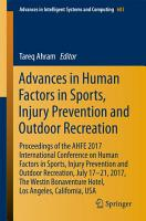 Advances in Human Factors in Sports  Injury Prevention and Outdoor Recreation PDF