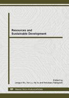 Resources and Sustainable Development PDF