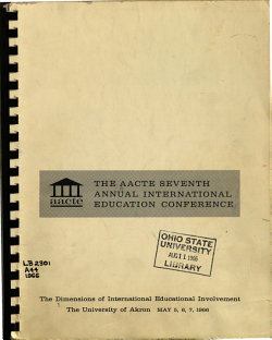 The Dimensions of International Educational Involvement PDF