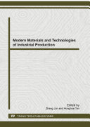 Modern Materials and Technologies of Industrial Production