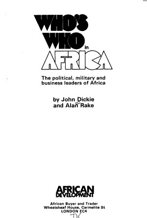 Who's who in Africa