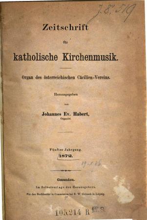 Zeitschrift f  r katholische Kirchenmusik PDF