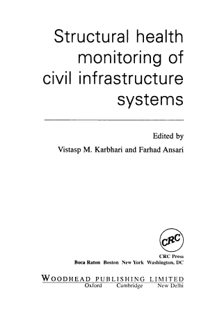 Structural Health Monitoring of Civil Infrastructure Systems PDF