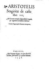 De coelo: libri IV.