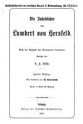 Die Jahrbücher des Lambert von Hersfeld