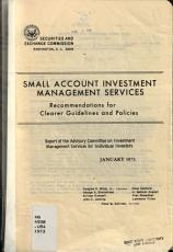 Small Account Investment Management Services  Recommendations for Clearer Policies and Guidelines PDF