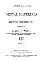 Catalogue of Dental Materials  Furniture  Instruments  Etc  for Sale PDF