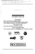 Proceedings of the     Annual William T  Pecora Memorial Symposium on Remote Sensing PDF