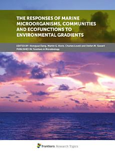 The Responses of Marine Microorganisms  Communities and Ecofunctions to Environmental Gradients