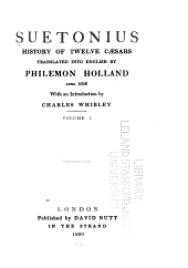 History of Twelve Caesars: Volume 1