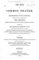 The Book of Common Prayer     With Notes     by the Right Rev  Richard Mant     Sixth Edition PDF