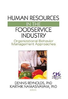 Human Resources in the Foodservice Industry Book
