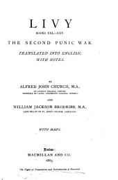 Livy, Books Xxi-xxv: The Second Punic War, Books 21-25