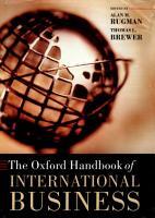 The Oxford Handbook of International Business PDF