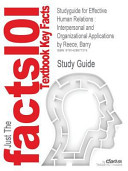 Studyguide for Effective Human Relations PDF