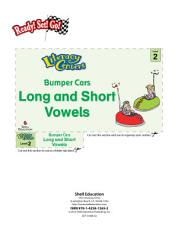 Long and Short Vowels  Bumper Cars Literacy Center PDF