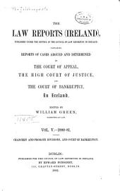 The Law Reports (Ireland): Volume 5