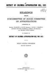 District of Columbia Appropriations