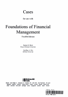 Casebook to accompany Foundations of Financial Management PDF