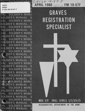 Graves Registration Specialist  MOS 57F Skill Levels 1 2 3 4 5