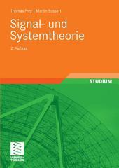 Signal- und Systemtheorie: Ausgabe 2