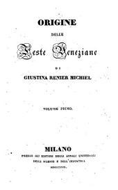 Origine delle feste veneziane: Volumi 1-3