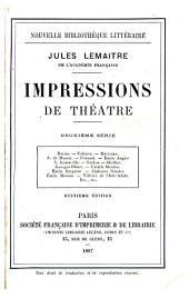 Impressions de théâtre