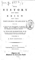 The History of the Reign of the Emperor Charles V PDF