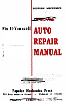 Fix it yourself Auto Repair Manual PDF