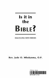 Is It in the Bible  PDF
