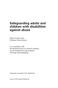 Safeguarding Adults and Children with Disabilities Against Abuse PDF