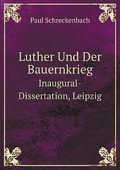 Luther Und Der Bauernkrieg
