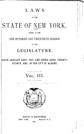 Laws of the State of New York: Volume 3