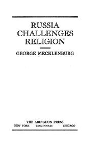 Russia Challenges Religion PDF