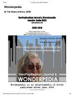Wonderpedia of NeoPopRealism Journal, In the News: 2008-2010